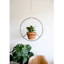 hanging plant holder black metal lamp table black metal and