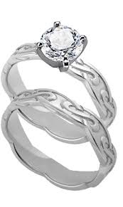 celtic wedding ring sets engagement rings with matching wedding rings