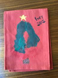 dish towels memories christmas kids craft homemade gift