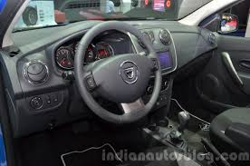 renault duster 2016 interior 2016 dacia sandero stepway with easy r amt interior at the iaa
