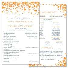 modern wedding programs confetti program unique wedding program by the green kangaroo