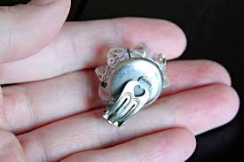 eclectic dolphin ring holder images How to make a ring from vintage earrings jpg