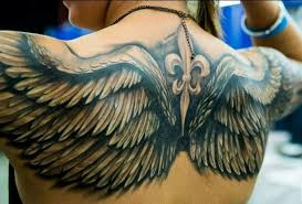 collection of 25 angel wing tattoo