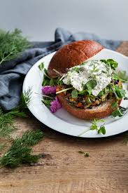 wild rice veggie burgers with herbed ricotta a beautiful plate