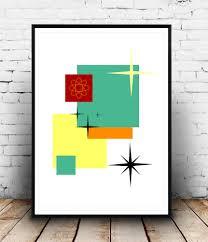 mid century modern design art print eames style art print