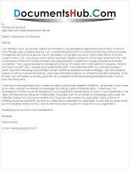 sample cover letter for environmental internship image collections