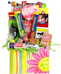 happy face retro candy gift basket