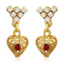 kempu earrings spargz floral wedding gold plating kempu with pearl