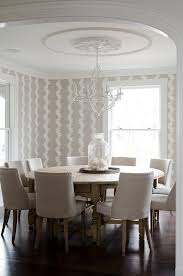 Beachy Dining Room Sets - small round dining room table with beach style rosette dining