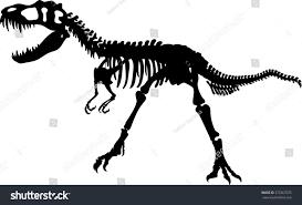halloween skeleton silhouette tyrannosaurus skeleton silhouette stock vector 375367075
