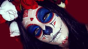 Halloween Makeup Day Of The Dead by Sugar Skull Day Of The Dead Muerte Make Up Tutorial For Halloween