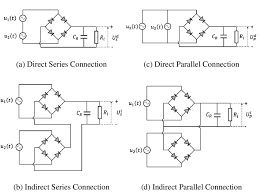 1 possible types of electrical connection of two piezoelectric