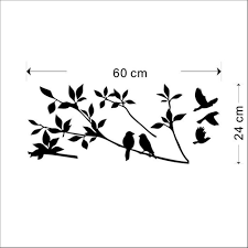 Wall Stickers Home Decor Acefast Inc Stickers 1 X Birds Flying Black Tree Branches Wall