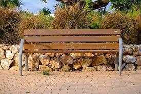 Landscape Timber Bench Wooden Bench In The Park By Hanasmarket Design Bundles