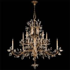 Crystal And Gold Chandelier Gold Leaf And Crystal Chandelier Bellacor