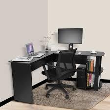 bureau d ude ouvrage d coin bureau d ordinateur forme l avec des étagères range livre table