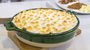 s sweet potato casserole with mini marshmallows today