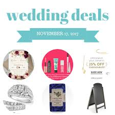 wedding deals wedding deals november 16 2017 the budget savvy