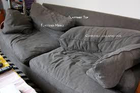 sagging sofa cushion support seat saver modhomeeccrumpledbackcushions design for sagging sofa cushio design
