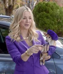 toyota commercial actress australia kaley cuoco is a violet suited genie in toyota s wish granting super