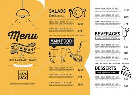 hipster and vintage art restaurant menu design template u2014 stock