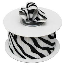black and white striped ribbon 1 5 black white zebra striped ribbon 10 yard efavormart
