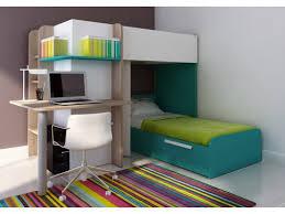 bureau en pin lits superposés samuel 2x90x190cm bureau intégré pin blanc et