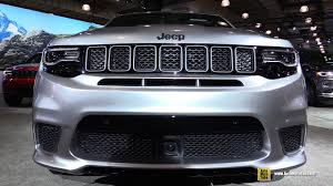 jeep grand cherokee interior 2018 2018 jeep grand cherokee trackhawk exterior and interior