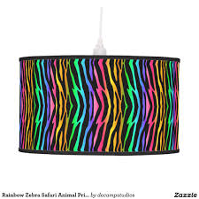 Zebra Print Bedroom Accessories Girls Rainbow Zebra Safari Animal Print Hanging Lamp Zebra Print Room