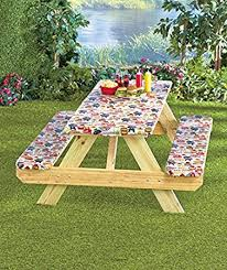 How To Make A Picnic Table Bench Cover by Amazon Com 3 Pc Picnic Table Covers Summertime Cookout