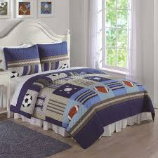 Daybed Blankets Denim And Khaki Sports Twin Quilt And Sham Twin Size Quilts