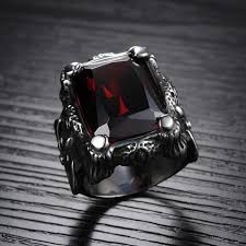 aliexpress buy mens rings black precious stones real rich ruby ring introvert palace