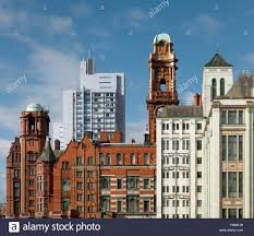 contrast of architectural styles old and new buildings in