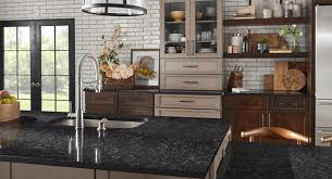 black kitchen cabinets with white subway tile backsplash design ideas with subway backsplashes and different countertops