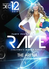 rave party psd flyer template free download by imperialflyers on