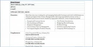 Example Resume Qualifications by Best Restaurant Resume Objective Examples For Retail Sales