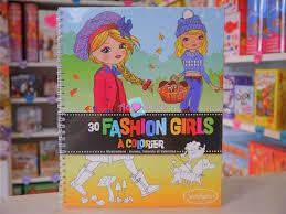 Carnet De Coloriage Fashion Girls  Au Coeur du Jeu