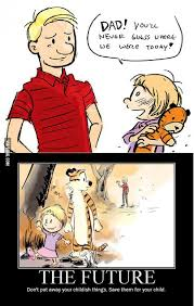 Sad Baby Meme - calvin and hobbes all grown up hobbs comic and stuffing