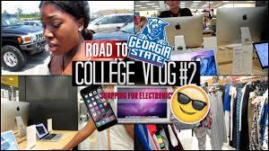 college vlog 2 shopping for laptop phone bookbag