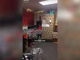 roommate decks the halls early for to prank