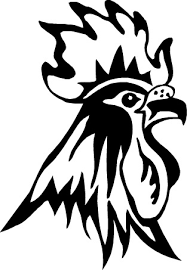 tribal design rooster go bantams tattoos that i