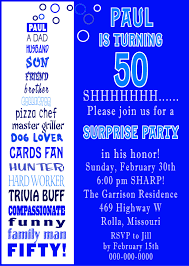 50th birthday invitations templates free download invitations