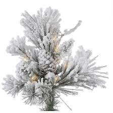 7 5ft flocked alberta artificial tree with