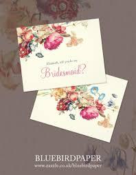 bridesmaid invitations uk custom floral will you be my bridesmaid card 2442571 weddbook
