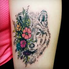 wolf tattoo designs and ideas on thigh wolf tattoos pinterest