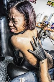 thug tattoos for girls photographer anne burlock lawver shows what it u0027s like to get a