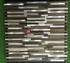 Kitchen Mosaic Backsplash by Interlocking Metal Mosaic Wall Tile Backsplash Smmt093 Brick