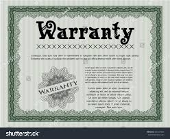 green vintage warranty certificate template artistry stock vector