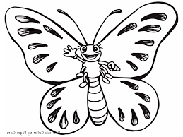 butterfly kids drawing easy butterfly color pages coloring online