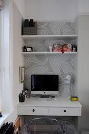 Desk In Small Space Built In Desk Ideas For Small Spaces Interior Design